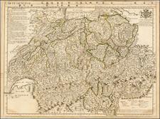 Switzerland Map By Guillaume De L'Isle