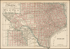 Texas Map By People's Publishing Co.