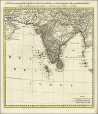 India and Central Asia & Caucasus Map By Covens & Mortier