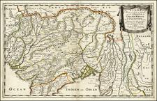 India and Central Asia & Caucasus Map By Nicolas Sanson