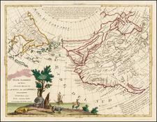 Alaska, California and Canada Map By Antonio Zatta