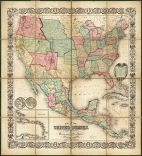 United States Map By Ensign & Thayer