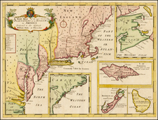 New England, Mid-Atlantic, South, Canada and Caribbean Map By Edward Wells