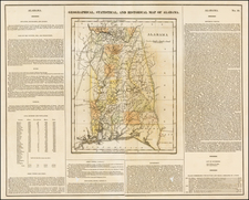 South and Alabama Map By Henry Charles Carey  &  Isaac Lea