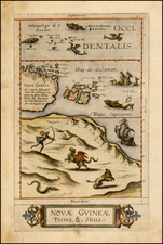 Australia and Other Pacific Islands Map By Cornelis de Jode