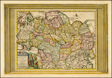 China, Korea and Russia in Asia Map By Pieter van der Aa