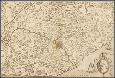 Southern Italy and Rome Map By Giovanni Francesco Camocio