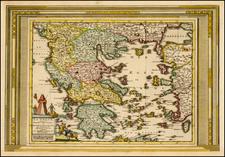 Greece Map By Pieter van der Aa
