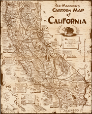 California Map By Reginald Manning