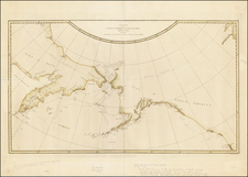 Alaska, Canada, Pacific and Russia in Asia Map By James Cook