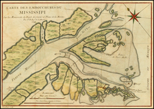 South Map By Jacques Nicolas Bellin