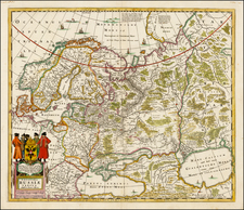 Russia, Baltic Countries and Scandinavia Map By Moses Pitt