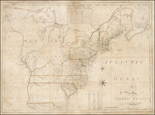 United States Map By Osgood Carleton  &  John Norman