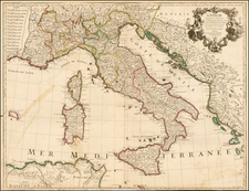 Italy Map By Guillaume De L'Isle