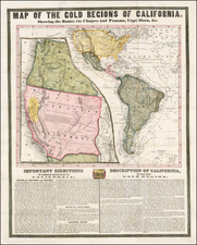 Arizona, Utah, Nevada, Utah, North America and California Map By Ensign & Thayer