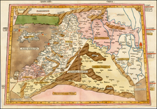 Middle East, Holy Land, Turkey & Asia Minor and Balearic Islands Map By Claudius Ptolemy / Johann Reger