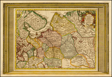 Russia Map By Pieter van der Aa