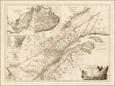 Canada Map By Georges Louis Le Rouge