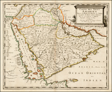 Middle East Map By Pierre Mariette - Nicolas Sanson