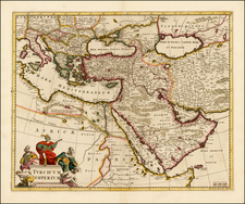 Turkey, Mediterranean, Middle East and Turkey & Asia Minor Map By Frederick De Wit