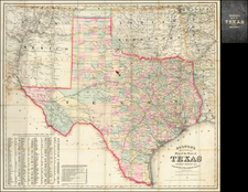 Texas Map By G.W.  & C.B. Colton