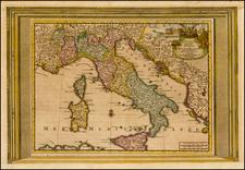 Italy Map By Pieter van der Aa