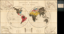 World and World Map By Seeley, Burnside and Seeley