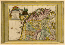 Scandinavia Map By Pieter van der Aa