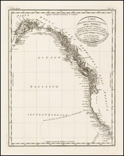 Alaska, Canada and California Map By George Vancouver