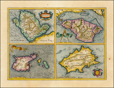 British Isles and Balearic Islands Map By  Gerard Mercator