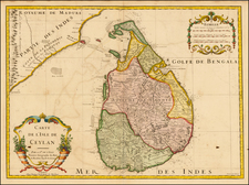 India and Other Islands Map By Guillaume De L'Isle
