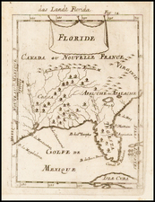Florida and Southeast Map By Alain Manesson Mallet