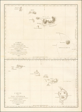 Hawaii and Hawaii Map By Jean Francois Galaup de La Perouse
