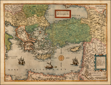 Balkans, Greece, Balearic Islands, Holy Land and Turkey & Asia Minor Map By Cornelis de Jode