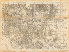 Southwest, Arizona, New Mexico and California Map By United States Bureau of Topographical Engineers