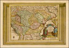 Hungary Map By Pieter van der Aa