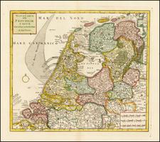 Netherlands Map By Giambattista Albrizzi