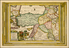 Turkey, Balearic Islands, Middle East and Turkey & Asia Minor Map By Pieter van der Aa