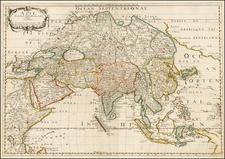 North America, Asia, Asia, Korea and California Map By Nicolas Sanson