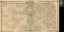 Kansas Map By G.W.  & C.B. Colton