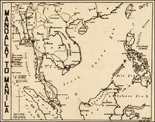 China, Southeast Asia and Philippines Map By Anonymous