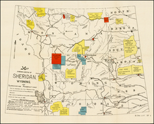 Plains, Rocky Mountains and Wyoming Map By United States GPO