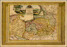 Germany, Poland and Baltic Countries Map By Pieter van der Aa