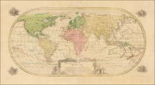 World, World, Hawaii, Pacific and Hawaii Map By Johann Michael Probst
