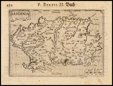 Italy and Sardinia Map By Barent Langenes