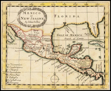 South, Southwest and Mexico Map By John Seller