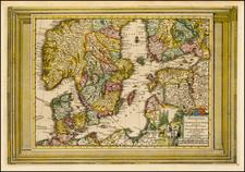 Baltic Countries and Scandinavia Map By Pieter van der Aa
