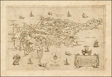 Greece, Turkey and Balearic Islands Map By Giovanni Francesco Camocio