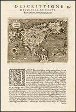 North America, Japan and Pacific Map By Tomasso Porcacchi