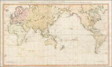 World, World, Australia & Oceania, Pacific, Australia, Oceania, New Zealand, Hawaii and Other Pacific Islands Map By William Faden / Henry Roberts